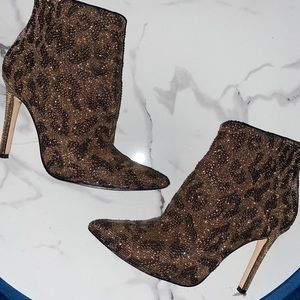 Jessica Simpson Sparkly Leopard Boots